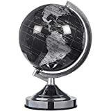 Juvale Small World Globe with Stand for Home, Desk, Classroom (Black, 8 in)