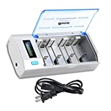 BONAI LCD Universal Battery Charger for AA, AAA, C, D, 9V Ni-MH...