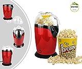 Leogreen - Elettrodomestico Per Popcorn, Macchina Per Fare Popcorn Scoppiettanti, Rosso, D...