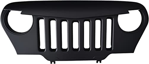 IPARTS Matte Black Front Angry Bird Grill Grille for Jeep Wrangler TJ 1997-2006 Rubicon Sahara Sport