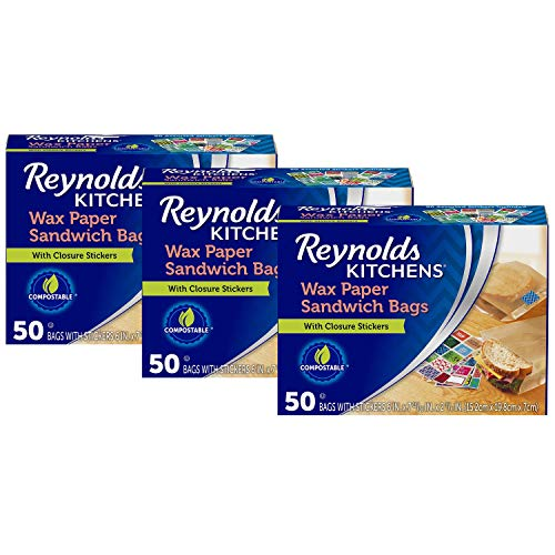 Reynolds Kitchens Wax Paper Sandwich Bags - 150Count