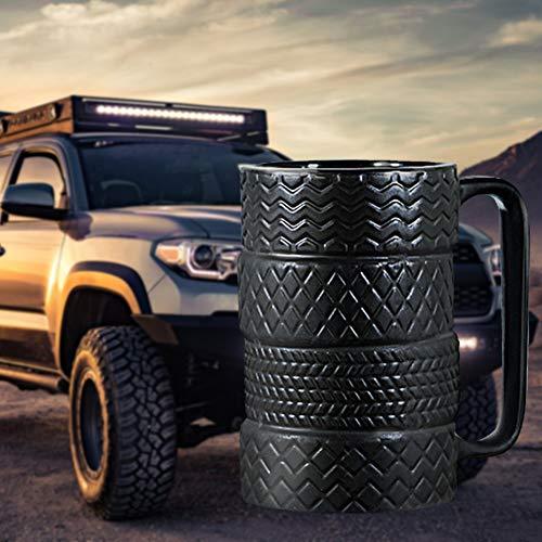 Schwarze Porzellan Tasse im Reifen Design