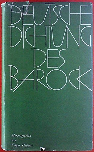 Deutsche Dichtung des Barock
