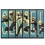 GOTH Perhk Naruto Characters Kakashi Poster Photo Vintage