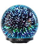 Bligli Essential Oil Diffuser, Unique Designed 3D Glass Aromatherapy Oil Diffuser with Cool Mist, Waterless Auto Shut-Off Humidifier for Home Office (200ML, Bright Galaxy)