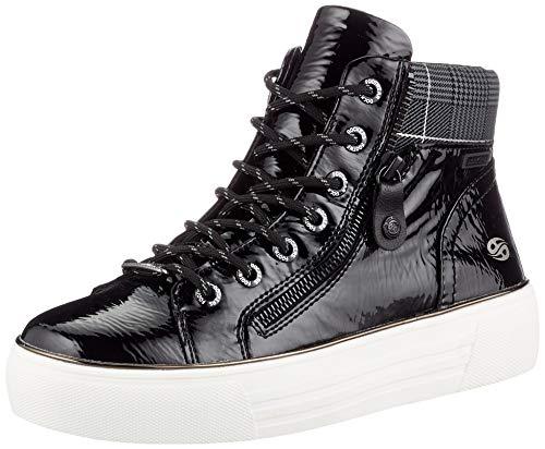 Dockers by Gerli Damen Bera Sneaker, schwarz/asphal, 38 EU