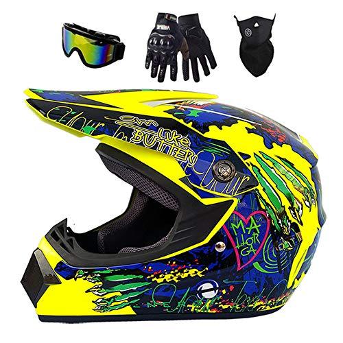 Casco de motocross, carcasa de ABS, norma de seguridad ECE 22.05, para...