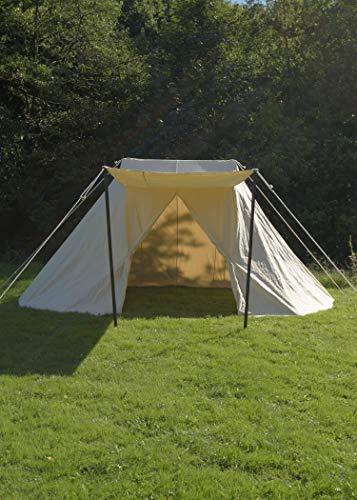 Tente saxonne Jorvik naturel 2x 4m, 340gsm, LARP médiéval viking