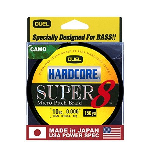 Yo-Zuri Hardcore Super 150 Yd Floating Braid, Camo, 10 lb