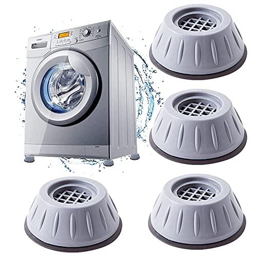 Anti Vibration Pads For Washing Machine,4 Piezas Pies para de lavadora,Almohadillas Para Los Pies De La Lavadora, Amortiguador de Vibracion para Lavadora,para de lavadora Secadora Silla de Mesa W