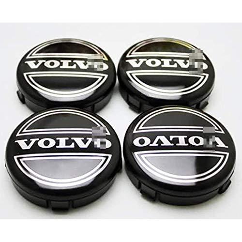 LOPLP Auto-Rad-Mitte-Abdeckungs Radkappen für Volvo C70 S60 V60 V70 S80 XC90, Radkappen Autofelgen Radkappe Abzeichen-Emblem-Abdeckungen, Auto-Styling-Zubehör, 64mm, 4 STK