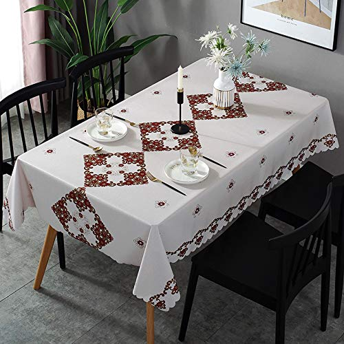 Tovaglia Stampata PVC Impermeabile E Resistente agli Oli Tavolo da Pranzo Rettangolare Tavolo da caffè Tovaglia da Cucina Hotel Ristorante Party Runner