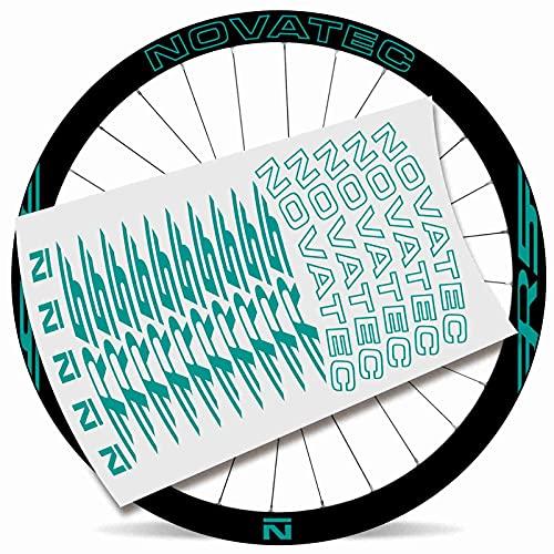Kit Pegatinas Bicicleta Stickers LLANTA NOVATEC R5 29' MTB BTT B (Turquesa)