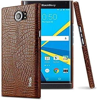 حافظة خلفي صلب لهاتف BlackBerry Priv - Imak مصنوع من جلد PU التمساح لهاتف BlackBerry Priv