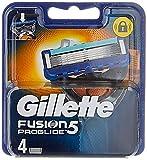 Gillette Fusion 5 ProGlide Cuchillas de Afeitar Hombre con Tecnología FlexBall, Paquete de 4 Cuchillas de Recambio