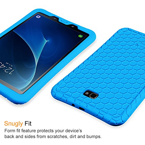 Fintie Hülle für Samsung Galaxy Tab A 10,1 Zoll T580N / T585N Tablet - [Bienenstock Serie] Leichte Rutschfeste Stoßfeste Silikon Schutzhülle Tasche Case Cover, Blau