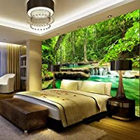 xueshao Wallpaper Green Forest SceneryWall Painting Living Room Bedroom Background Wall Mural