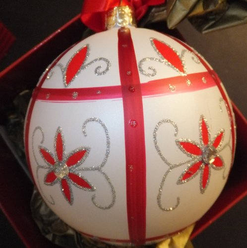 Waterford Holiday Heirlooms 'Holiday Lace' Ball, Glass Christmas Ornament