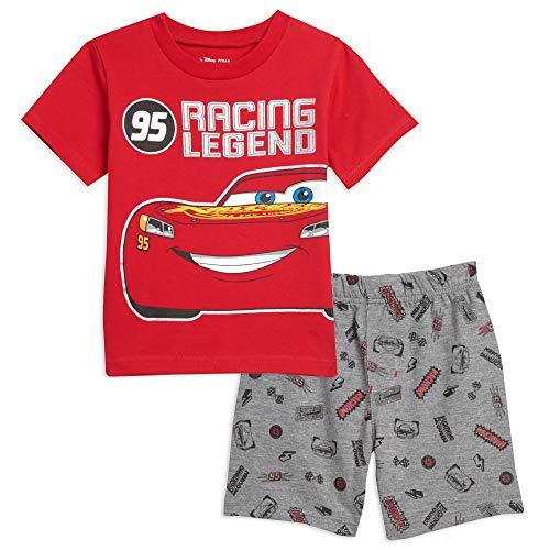 Disney Cars Lightning McQueen Toddler Boys T-Shirt & Shorts Set Red/Gray 5T