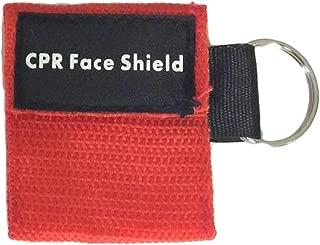 Leoboone 2Pcs Mini Portátil de Primeros Auxilios Máscara de Llavero de RCP/Escudo Facial Kit de Barreras Máscaras para el Cuidado de la Salud 1- Válvula de Vía Máscara
