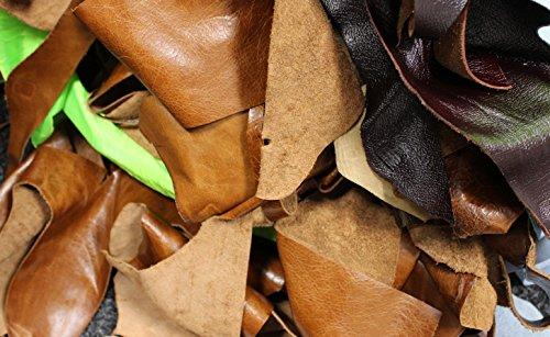 Bolsa de 2kg de retales de piel para proyectos artísticos y manualidades