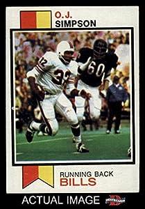1973 Topps # 500 O.J. Simpson Buffalo Bills (Football Card) Dean's Cards 5 - EX Bills