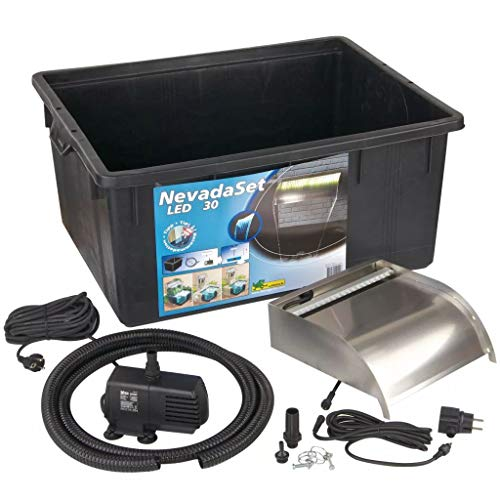 Ubbink Nevada Kit de watervalerie Noir Taille L