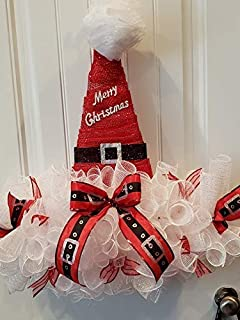 Best santa belt mesh wreath Reviews