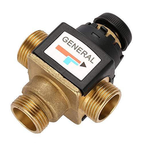 Wendry Thermostatisches Mischventil, Thermostatisches Mischventil mit hohem Durchfluss/guter Leistung, Verbrühschutzfunktion, Temperaturbereich von 35 bis 60 Grad für Heißwassergeräte/Fußbodenheizung