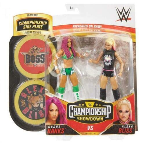 reemplazo Sasha Banks Vs Alexa Bliss | Championship Showdown Series 1 | Figuras de...