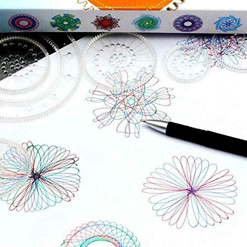 27-teiliges magisches Blumen-Lineal-Set, ineinandergreifende Zahnräder und Räder, geometrisches Lineal, Zeichenzubehör für Kinder, kreatives Lernspielzeug