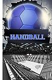 Handball: Carnet de notes ligné. Format poche pour l'emporter partout