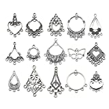 60pcs(30 Pairs) Mixed Earring Drop Charms Chandelier Earring Charm Wholesale Bulk Lots Jewelry Making for Jewelry Making Necklace Bracelet and Crafting SM268