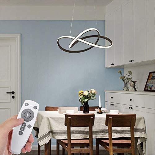 Chlyuan LED Deckenleuchte Moderne Kunst LED Deckenpendelleuchte Kronleuchter Lampen-Befestigungs-Wohnzimmer-Dekor (Farbe : Weiß, Größe : AC110V)