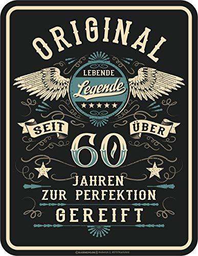 RAHMENLOS Deko Blechschild als Geschenk zum 60. Geburtstag