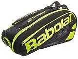 Babolat RH X 6Pure raquetero de Tennis, Unisexe Adulte, Mixte Adulte, 751135_Talla Única, Noir/Jaune/Fluo, Taille Unique