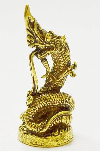 Buddha Staute Power Naga Mini Statue Brass Life Protection Amulet