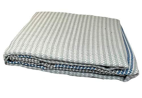 Moritz Premium Vorzeltteppich 250 x 600 grau cm weiße Querfäden Campingteppich Zeltteppich Wohnwagen Wohnmobil Zeltunterlage Markise Zelt Teppich Markisenteppich Zeltboden Outdoorteppich
