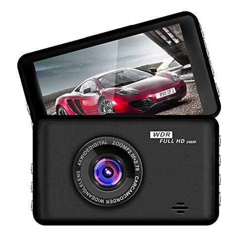 Grabadora de conducción de automóviles, cámara de coches de visión nocturna de alta definición de 3 pulgadas, alta definición de 1080p, gran angular de 140 grados, sensor de gravedad de soporte, image