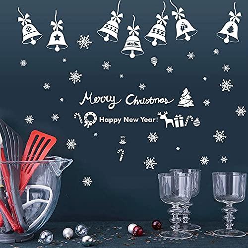 PMSMT 2 uds DIY Ventana de Navidad Decorativa Halloween Pegatinas electrostáticas Decoraciones navideñas para el hogar Año Nuevo 2020 calcomanía de Pared