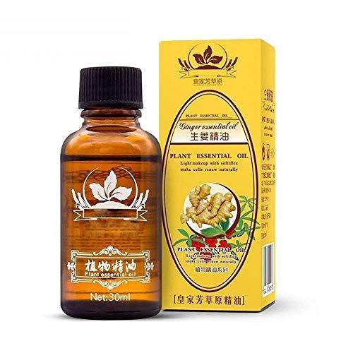 2 Stück Pflanzentherapie Lymphdrainage Ingweröl, Vamotto 100% reine natürliche Ingwer ätherische Öle zur Massage, Körpermassageöl fördern die Durchblutung, lindern Muskelkater,Ingwer Massageöl (2)