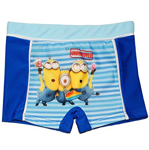 alles-meine.de GmbH Badehose / Badeshorts -  Minion - Ich einfach unverbesserlich  - Größe 2 bis 3 Jahre - Gr. 98 bis 104 - für Jungen Kinder Badepants - Boxershorts Shorts mit..