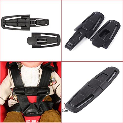 JJOnlineStore - Black Car Safety Seat Strap Belt Harness Chest Child Children Baby Clip Safe Buckle Latch