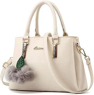 Dreubea Women's Leather Handbag Tote Shoulder Bag Crossbody Purse