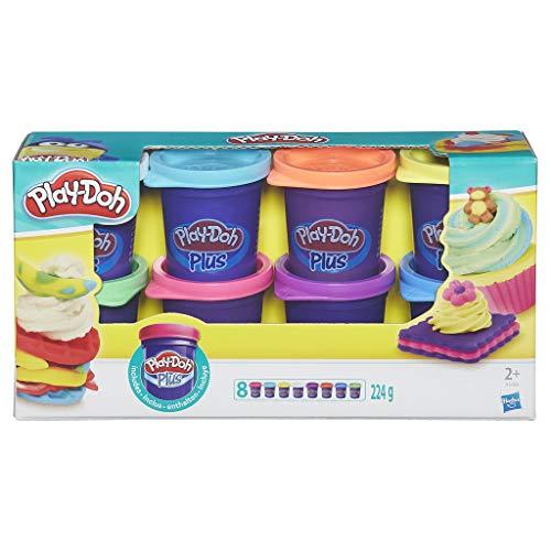 Play-Doh - 8 vasetti Play-Doh Plus modello Pate A - 28 g ciascuno, peso totale 224 g
