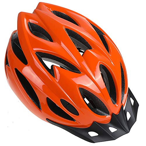 Zacro Adult Bike Helmet - Cycle Helmet, Specialized for Women Safety Protection, Collocated with a Headband, Orange Helmet