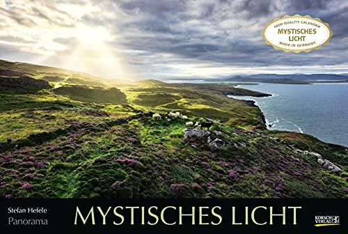 Mystisches Licht 2022: Großer Foto-Wandkalender mit Bildern von Lichtspielen der Natur. Edler schwarzer Hintergrund. PhotoArt Panorama Querformat: 58x39 cm.