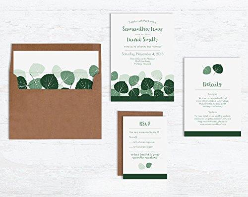 Aspen Leaves Wedding Invitation Sets