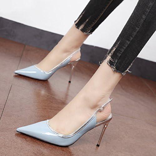 Xue Qiqi jaune chaussures à talons hauts avec fine élégante baotou sandales, emplacement vide pour chaussures unique