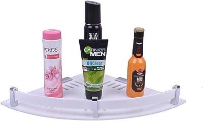 Plantex Premium Acrylic Multipurpose Corner/Bathroom Corner/Shelf/Rack/Bathroom Accessories/Wall Mount (10 x 10 Inches)